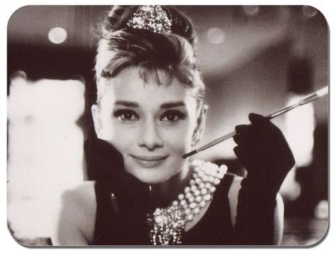 Audrey Hepburn Mouse Mat. Movie Film Quality Mouse pad #2